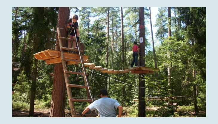 bester geburtstagde kletterwald weiherhof bäume leiter kinder erwachsene seile