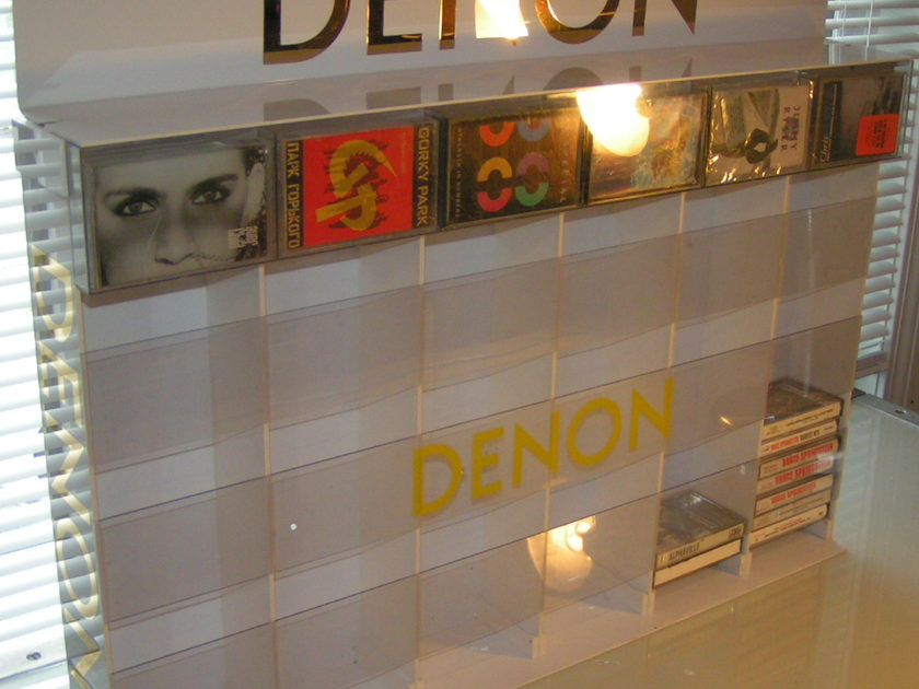 Denon Cassette Tape Display/Storage, Perfect For Your Listening Room!