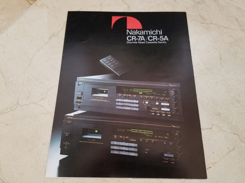 Nakamichi CR-7A Audiophile Cassette Player/ Remote/ Manual/ Box - WOW!