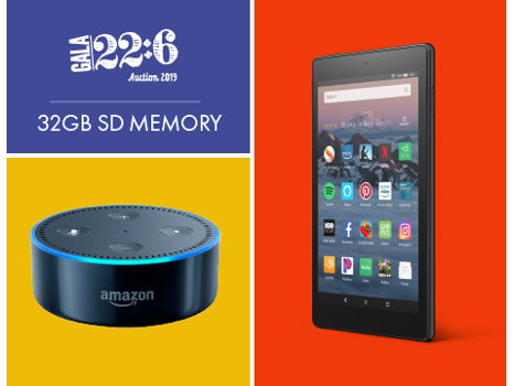 Amazon Fire HD 8 Tablet, Echo Dot, & SD Memory Card