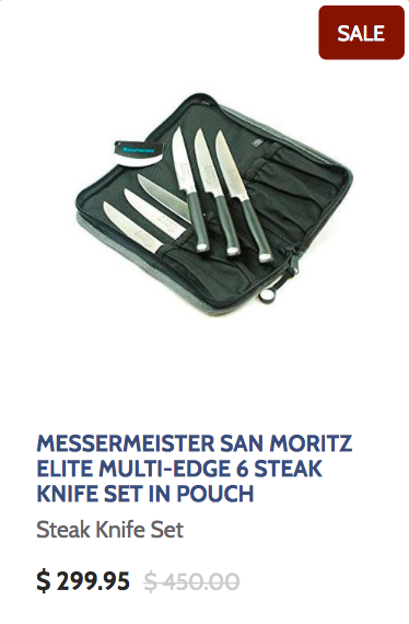 Messermeister San Moritze Elite Multi-Edge 6 Steak Knife Set in Pouch
