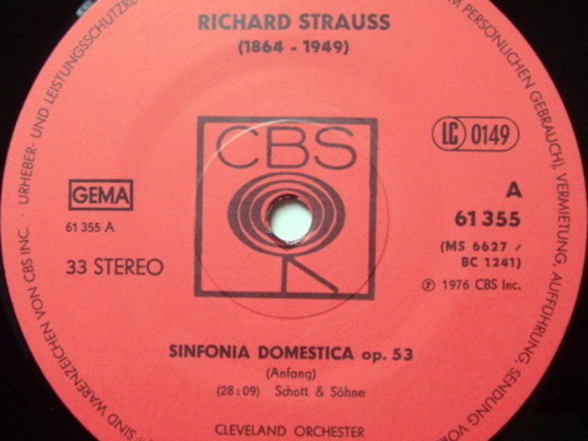 Columbia Germany / GEORGE SZELL, - R. Strauss Sinfonia Domestica, MINT!