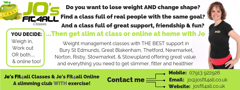 Jo's Fit4all slimming & exercise classes logo