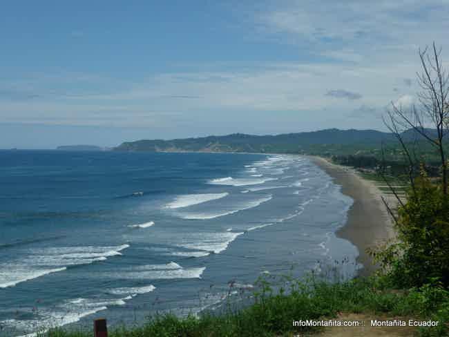 Walking on the beach (north)-Montañita