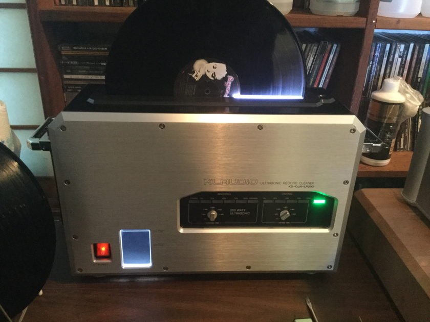 KLAudio LP Vinyl Record Ultrasonic Cleaner with Dryer Like new