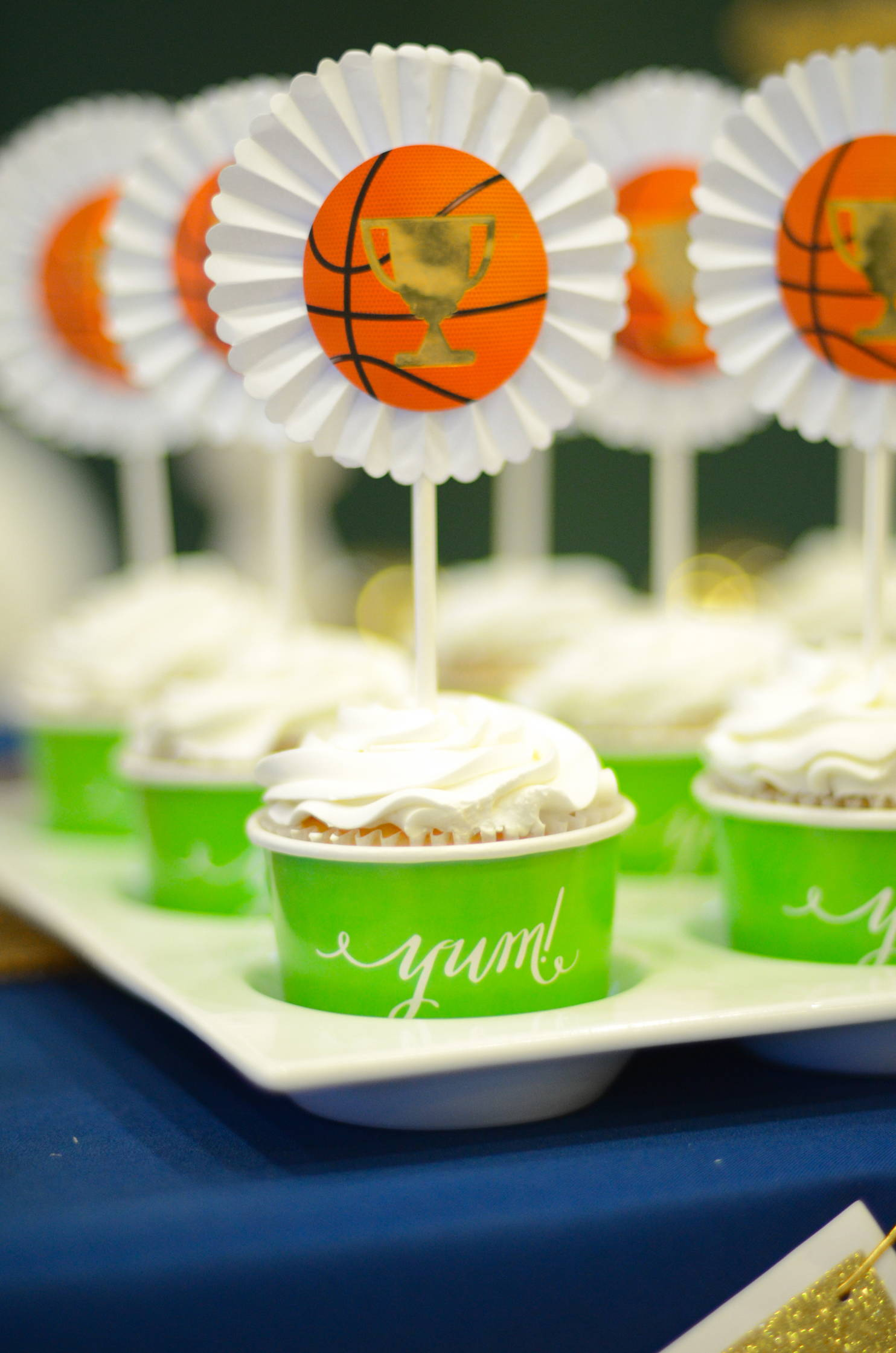 Basketball Party Ideas, Basketball Cupcakes