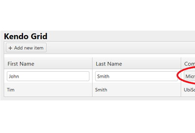 Kendo UI drop down inside Kendo grid MVC in 3 steps