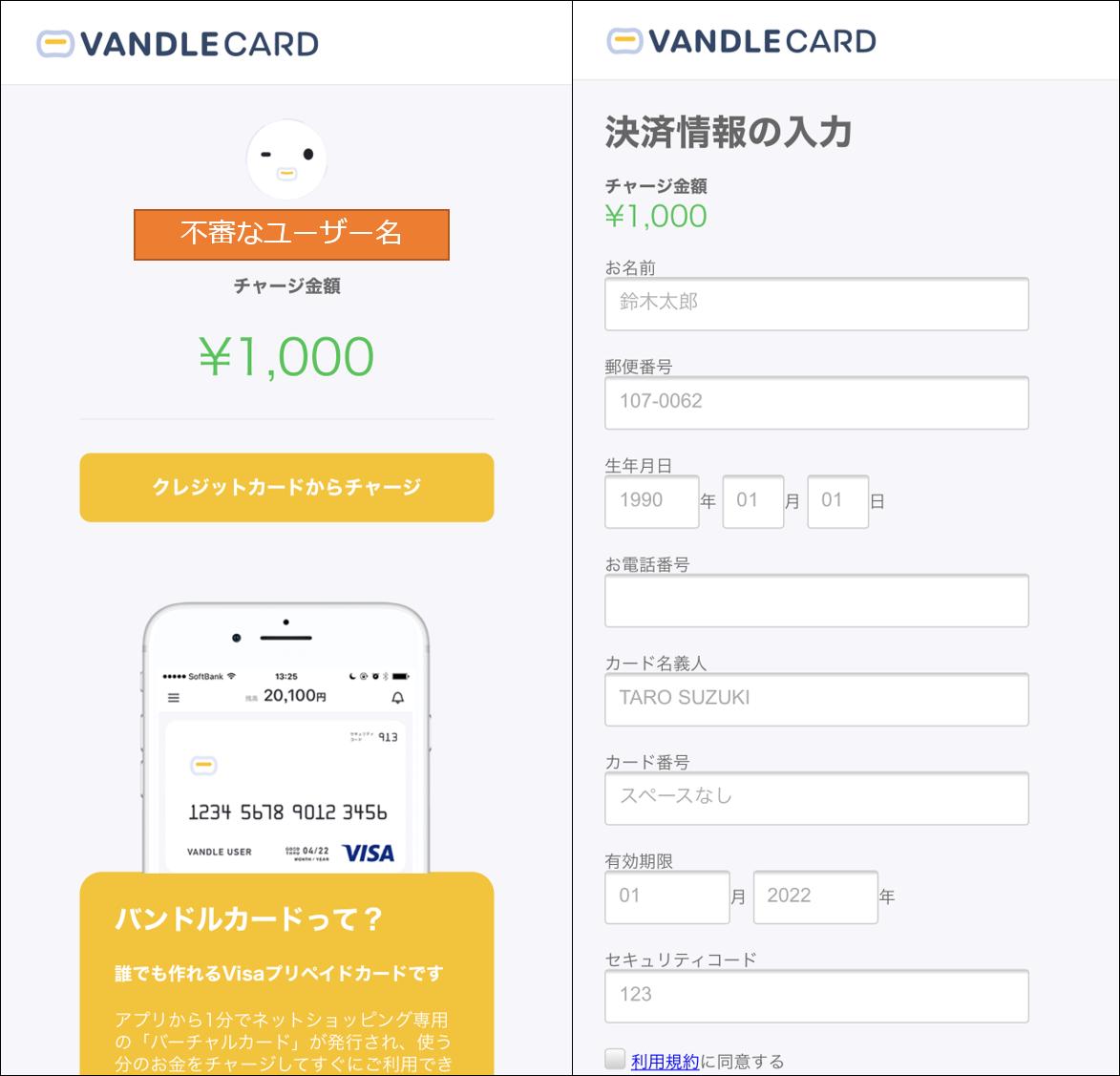 方法 支払い バンドル カード
