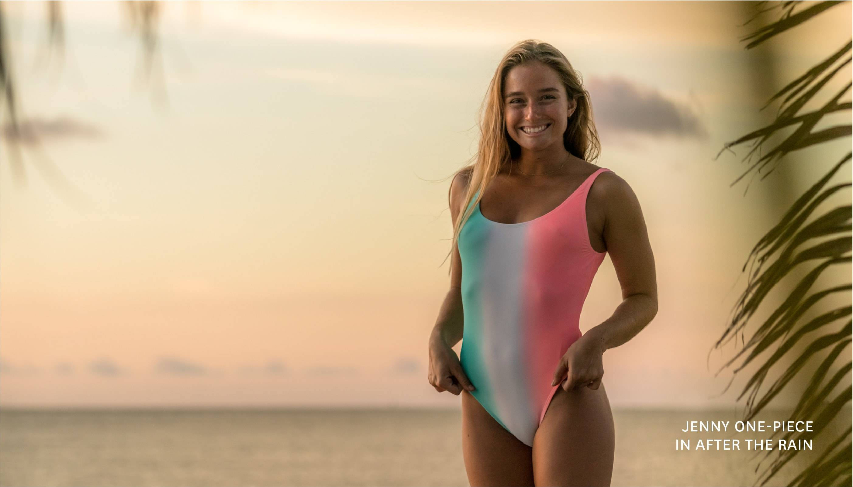 Get the JENNY ONE-PIECE in AFTER THE RAIN!