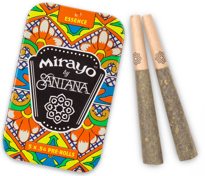 image of Mirayo CBD cannabis tin and joints