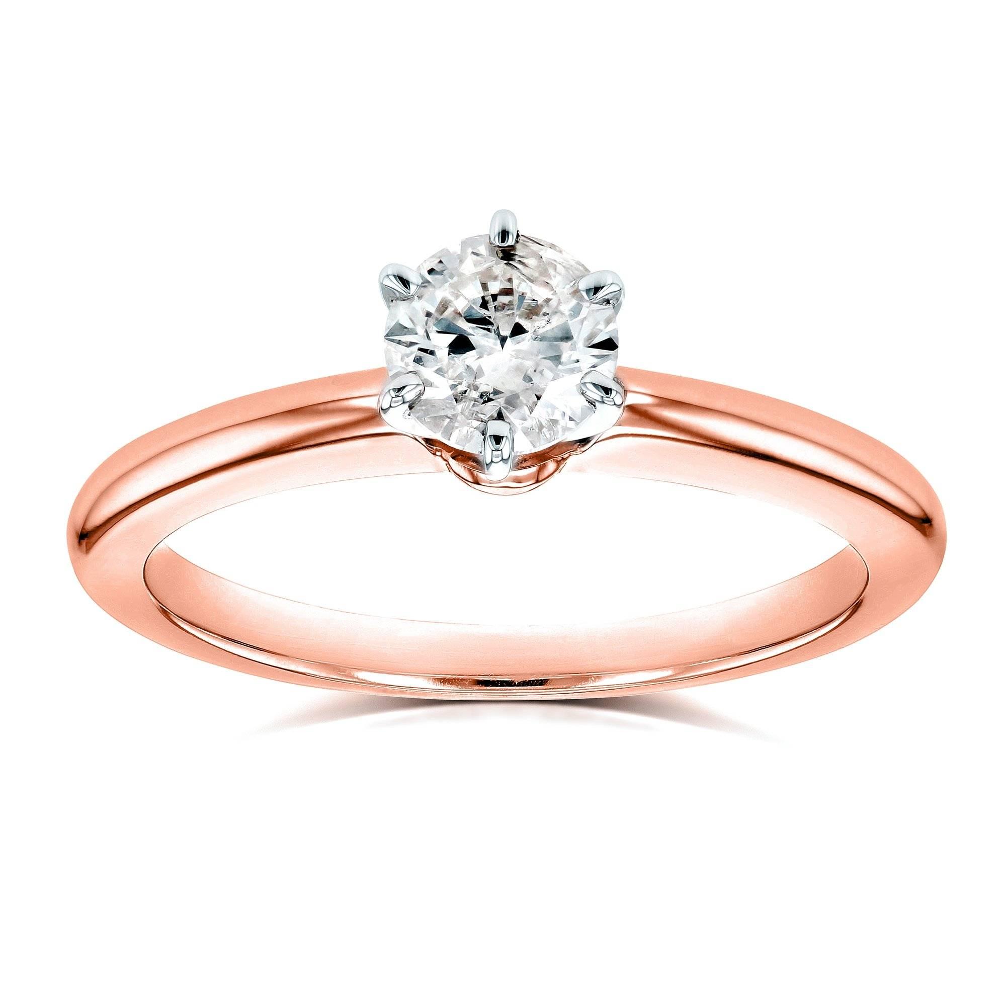 solitaire diamond petite ring