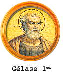 Illustration of Pope Gelasius I whose pontificate lasted from 492 to 496.