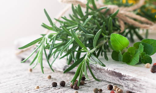 Rosemary Is a strongly scented Mediterranean bush. Its name comes from