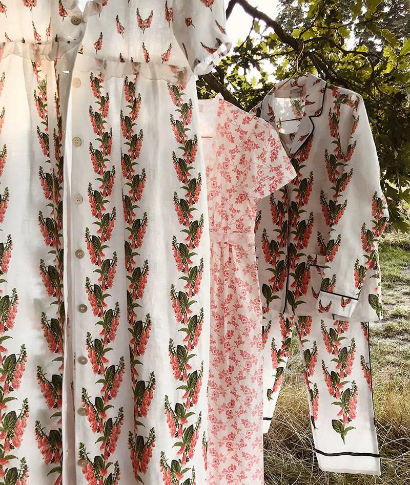 Female Narratives day wear dress shoot: Valetina Dress Foxglove Print