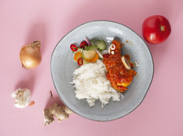 Ayam Masak Merah with Rice