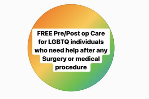 Queercare  logo and link