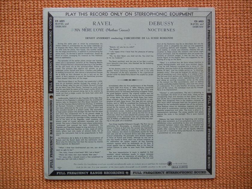 Ravel/Debussy - Mother Goose/Nocturnes London FFSS CS-6023 blueback