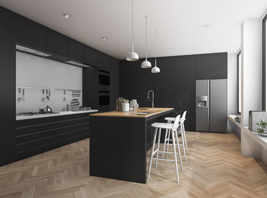 The Straight, Lonehill - Enjoy the minimalist style in your kitchen for a clean, tranquil space.
