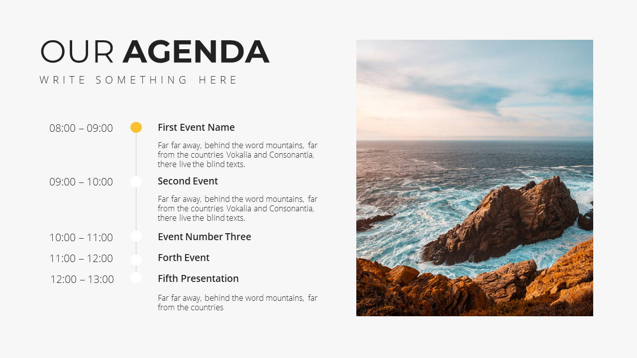 Minimal X Consulting Firm Proposal Presentation Template Agenda