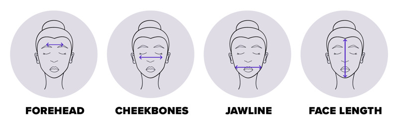 how to measure your face shape
