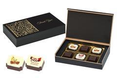 Indian Wedding Gift Ideas for Guests - 6 Chocolate Box - Alternate Printed Candies (10 Boxes)