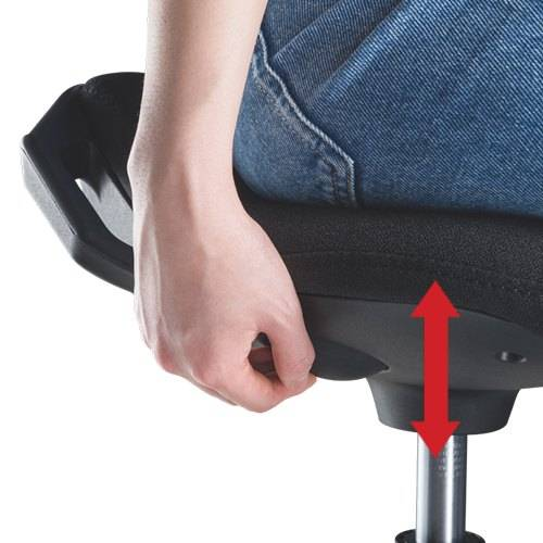 Sit stand desk stool for perching leaning active sitting