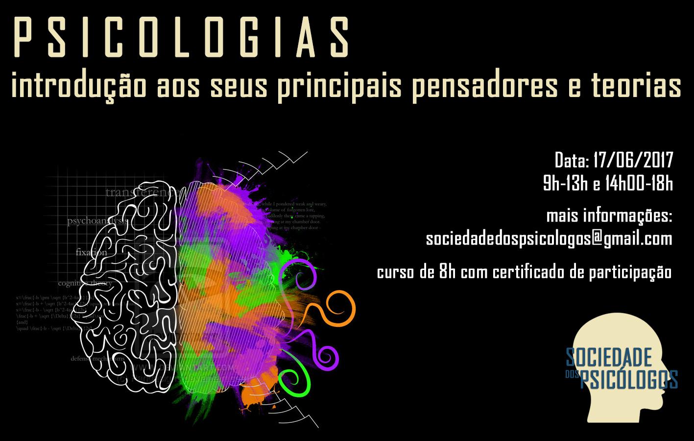 """Curso """"Psicologias: introdução aos seus principais pensadores e teorias"""""""