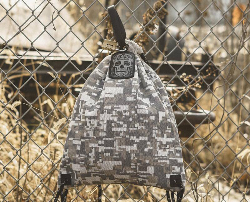 lockable anti-theft drawstring backpack
