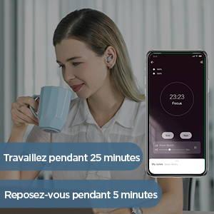 Amazfit ZenBuds - Minuterie Pomodoro pour une meilleure productivité