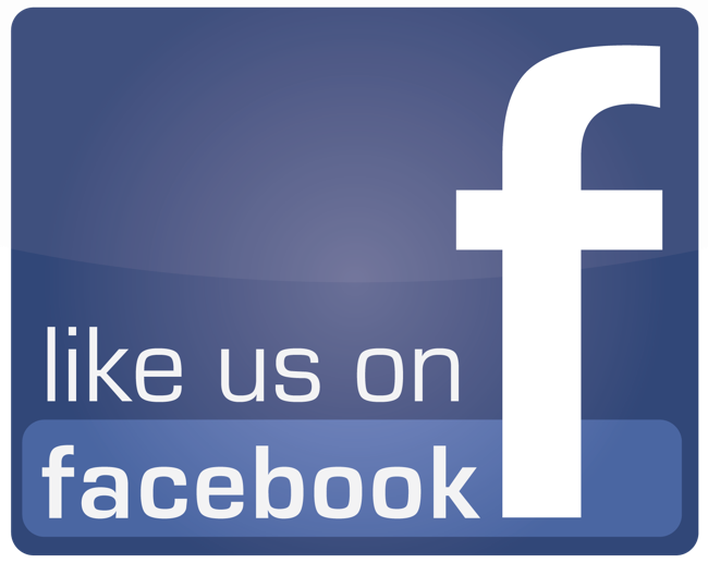 Like on Facebook poster with the Facebook logo