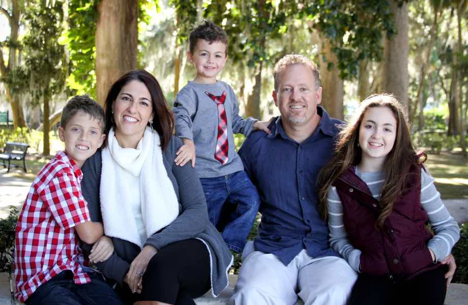 Franchise Owners of Primrose School Lina and Nate Parrott with their family