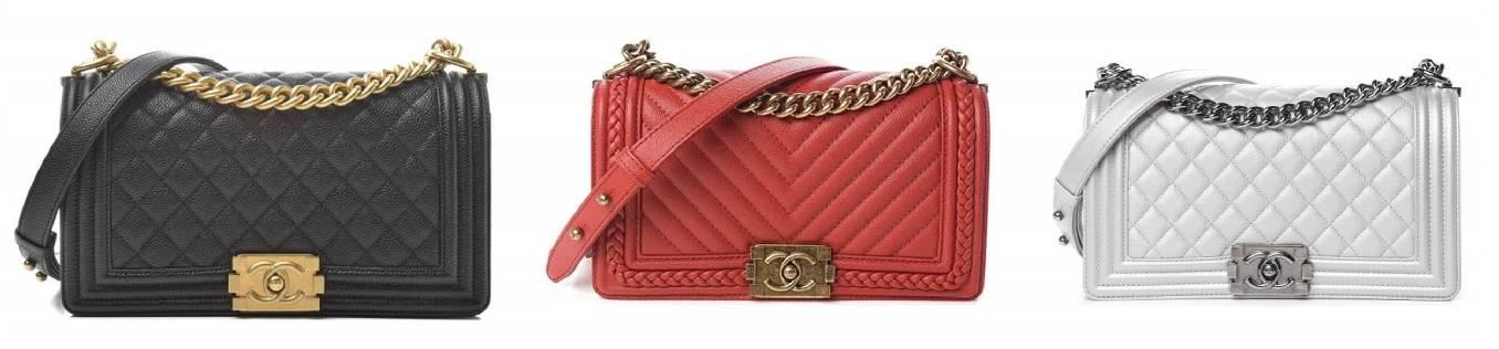 3 Chanel Boy Flap Bags