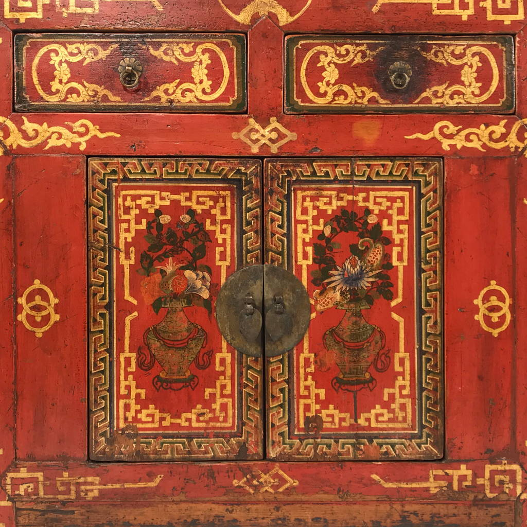 Shop Mongolian Antique Furniture - Mongolian Sideboards & Cabinets | Indigo Antiques