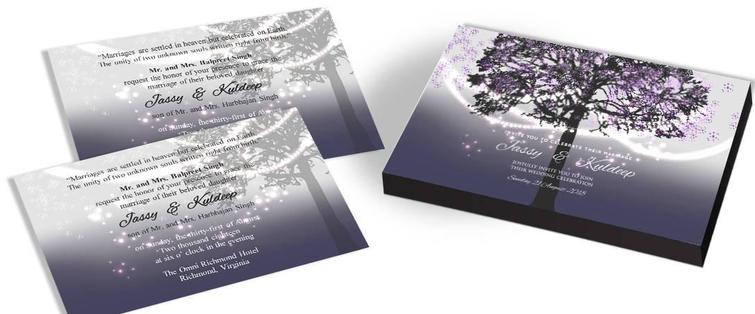 Elegant Tree Wedding Invitations In India