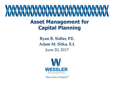 Asset Management for Capital Planning