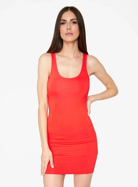 HeyYou Basic Red Tank Mini Bodycon Dress