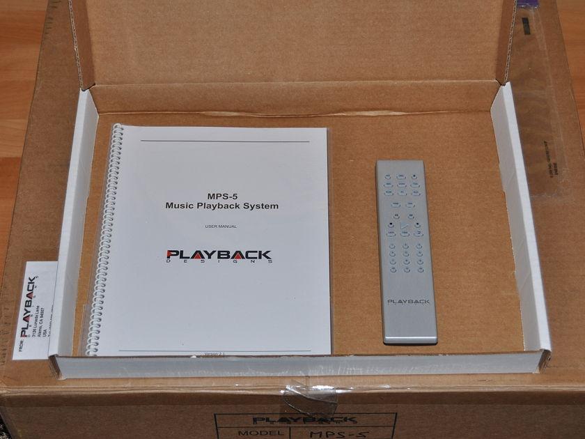 Playback Designs MPS-5 SACD/CD player / DAC and USB-X Box - 230v Europe