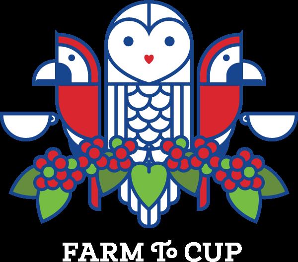 Alma Coffee Owl and Scarlet Macaw Logo