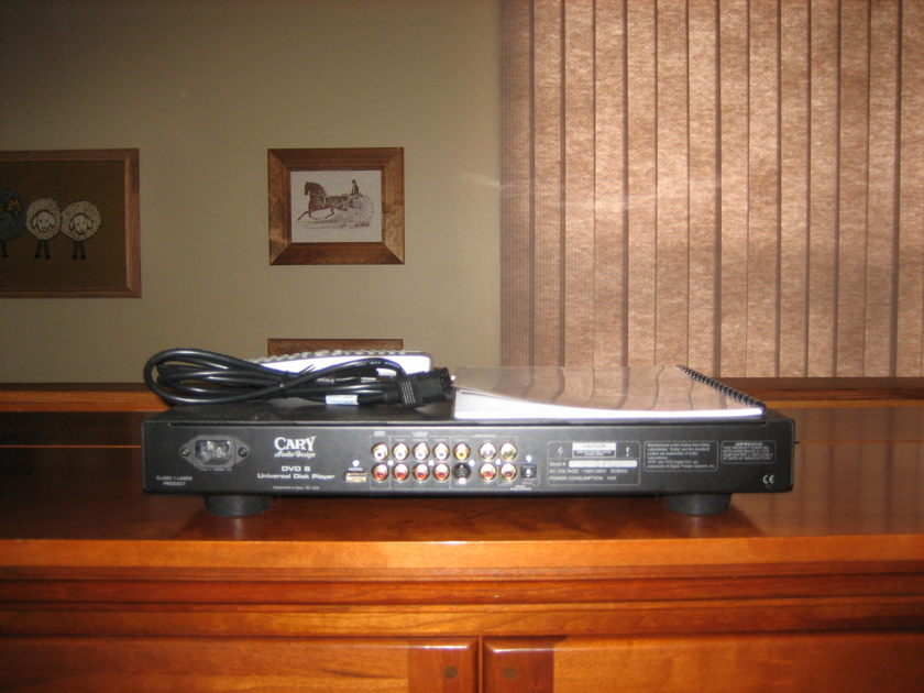 Cary DVD8 silver all format disc player