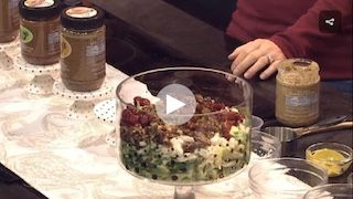 Betsy explains how to make a delicious chopped brussel spouts salad on the Carolina Kitchen