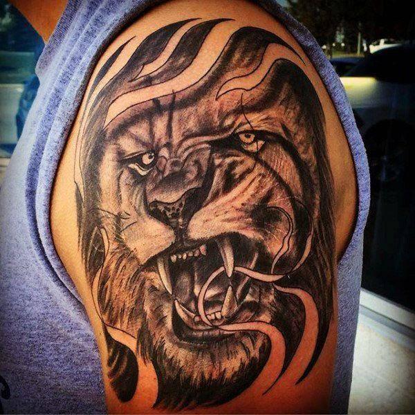 Tatouage Lion Epaule Homme