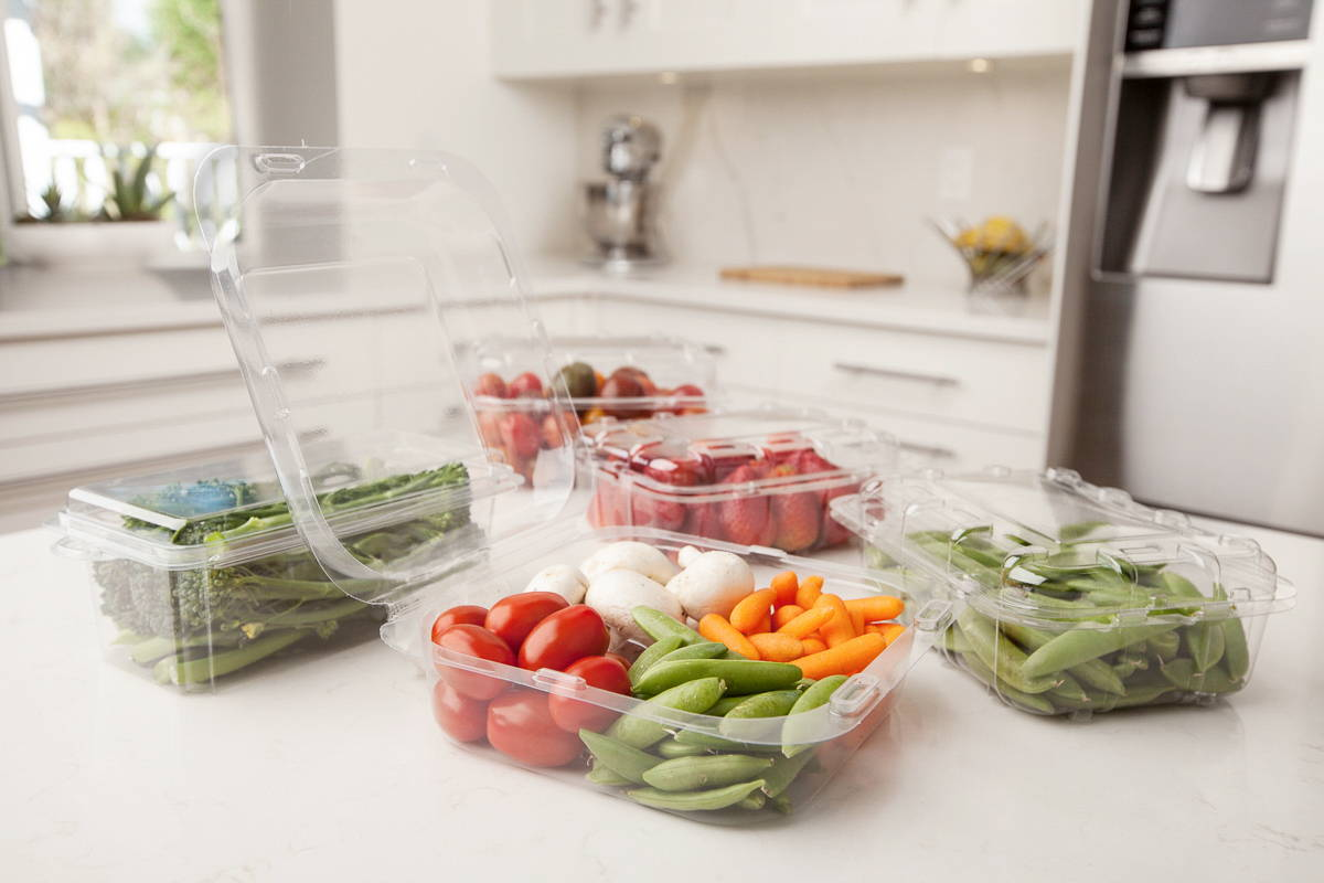 plant based food packages for fresh cut fruits and vegetables, canada
