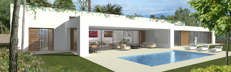 neubau projekt f nf moderne villen in sol de mallorca. Black Bedroom Furniture Sets. Home Design Ideas