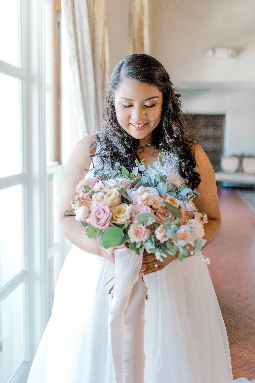romantic wedding bridal bouquet, lush wedding flowers, Los Angeles florist, Vave studios