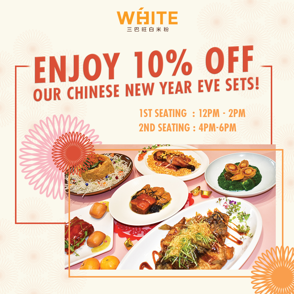 Enjoy 10% off our                                   Chinese New Year Eve Set!