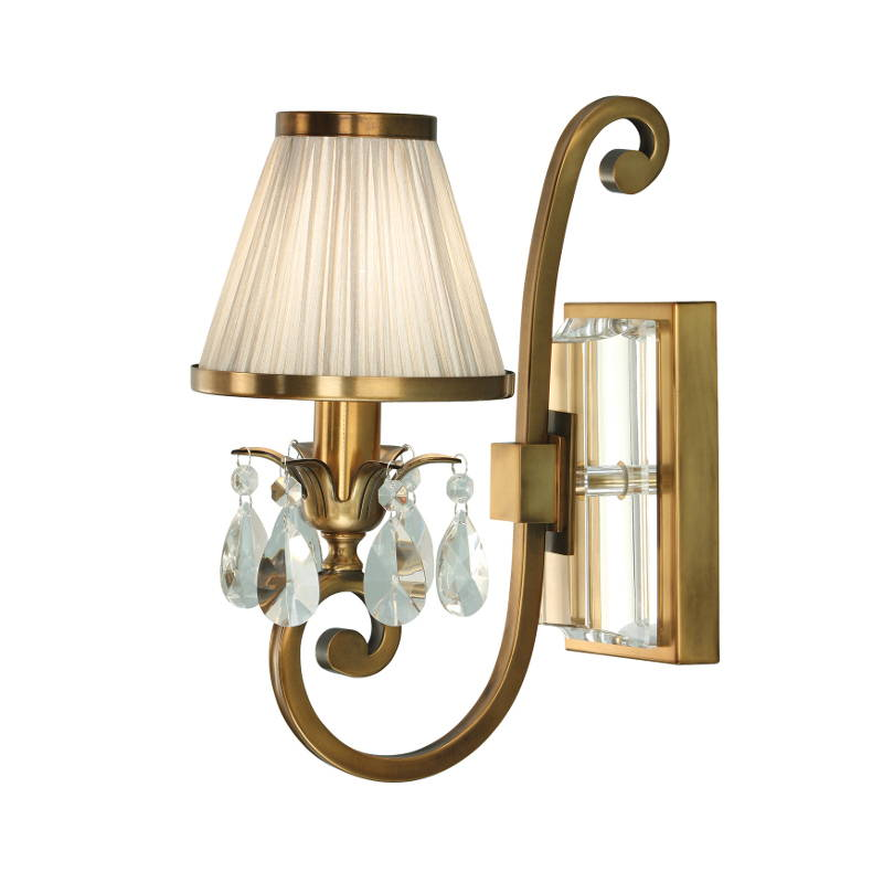 Oksana Antique Brass Wall Lights