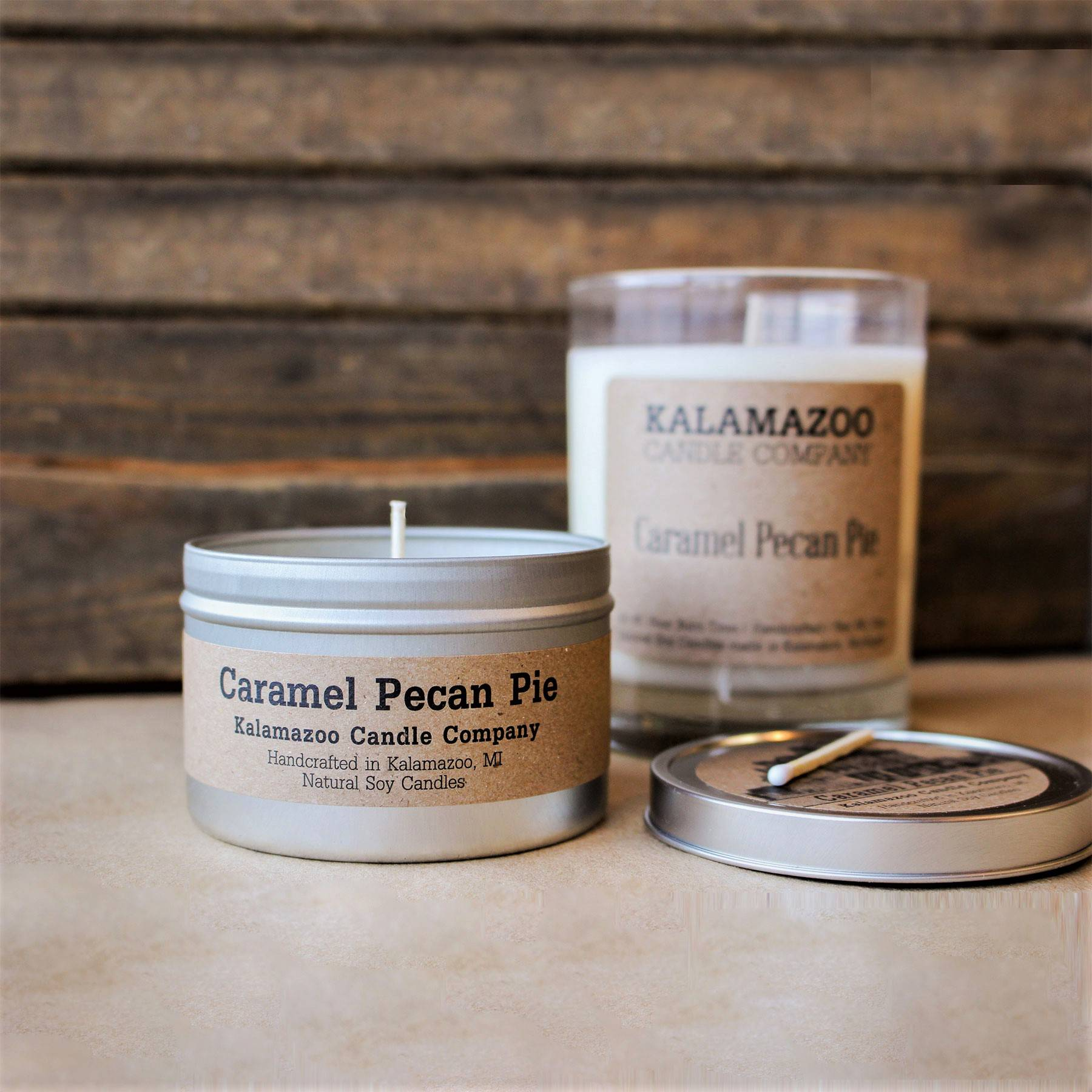 Caramel Pecan Pie natural soy wax scented candle