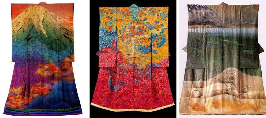 Kubota Itchiku 'Symphony of Light' Kimono