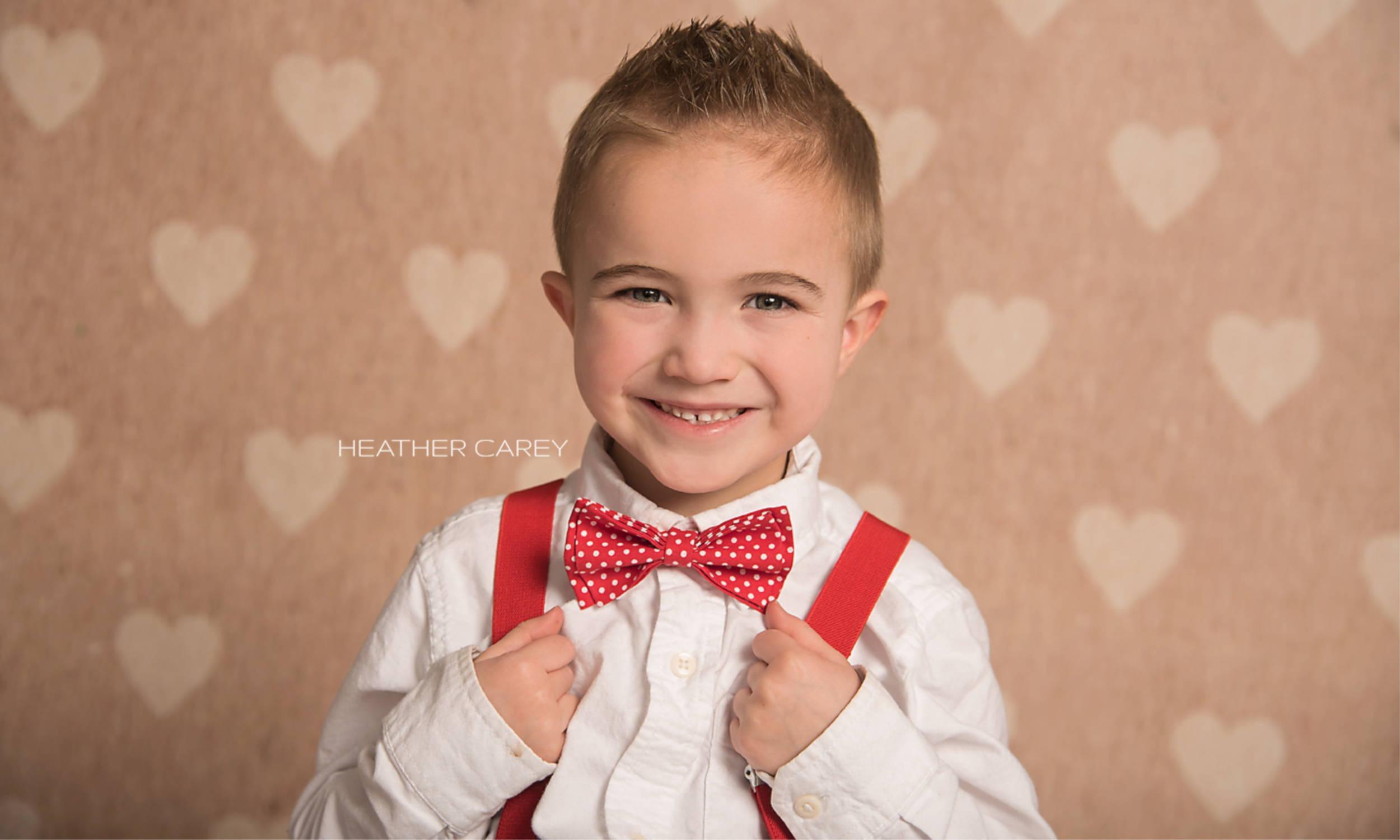 Valentines Bow Tie & Suspenders