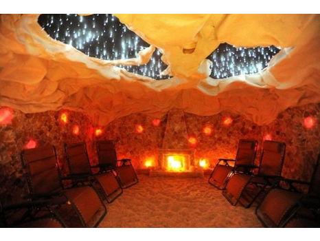 Enjoy the Himalayan Salt Cave at Four Elements Spa!